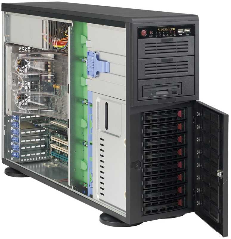 Supermicro 4U Rack Server Superserver Tower Server Dubai Sharjah Abu Dhabi United Arab Emirates Gulf GCC Middle East Distributor